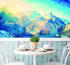 3D Blue Snow Mountain 668 Wall Paper Wall Print Decal Wall AJ WALLPAPER CA