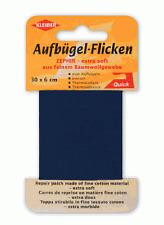 Kleiber Zephir Aufbügel-Flicken 30x6cm BW Bügelflicken Reparatur alle Farben