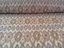 Sivas Ikat Jacquard Egeo Azul/Gris Cortina/artesanía/Tela de tapicería