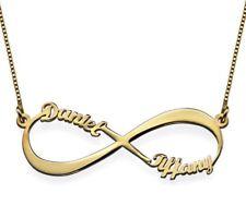 Collana infinito con nome oro Giallo 18 kt. scritta due nomi regalo donna ragazz