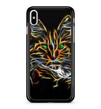 Magique Chat fluorescent néon Lumières Mystique Prismatic 2D étui de téléphone
