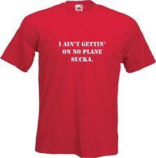 A TEAM - MR T.  I AINT GETTING ON NO PLANE SUCKA!  Mens Funny T-Shirt -