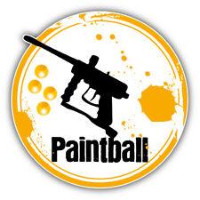 Paintball Gun Grunge Rubber Stamp Car Bumper Sticker Decal - 3'' or 5''
