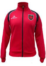 Olorun 6 Nazioni Galles Rugby Tifosi Retro Giacca Rosso/Neri Misura S-3XL