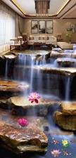 3D Lotus Falls View 593 Floor WallPaper Murals Wallpaper Mural Print AJ AU Lemon