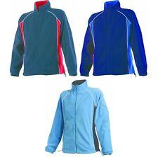 Ladies Women Finden Hales Piped Micro Fleece Full Zip Long Raglan Sleeve Jacket