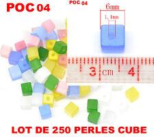 Lot 250 perles cube oeil de chat POC04
