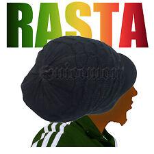 Rasta Hat Cap Slouchy Reggae Rockers Selassie Marley Jamaica 100% Cotton L/XL