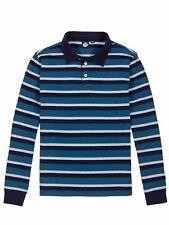 Maglia Polo da uomoblu a righe manica lunga North Sails casual moda bottoni
