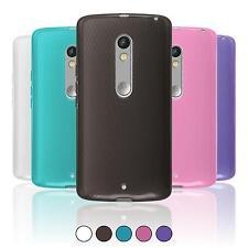 Coque en Silicone Motorola Moto X Play - transparent  + films de protection