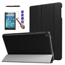 Leather Folio Flip Case Slim Cover + Screen For Amazon Kindle fire HD 8 2017 8.0