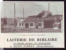 1929  --  LAITERIE DE RIBLAIRE  SAINT VARENT   U045