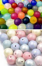 24 Original POLARIS Perlen 10mm groß matt SCHWARZ WEISS GRAU 3 Farben