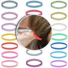 20 Elastico Hair Banda Gomma Dreads Trecce Rasta Accessori Trasparente Piccolo