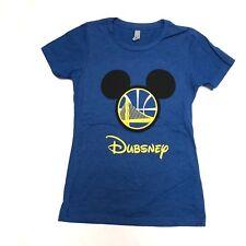 Womens Dubsney Disney Shirt Mikey Ears Disneyland Golden State Warriors T shirt