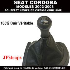 SOUFFLET LEVIER DE VITESSE CUIR NOIR  SEAT CORDOBA  2002 - 2008