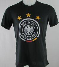Deutscher Fussball-Bund Adidas Men's Black Short Sleeve Shirt
