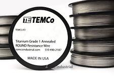 TEMCo Titanium Wire Surgical Grade 1 Resistance AWG ga
