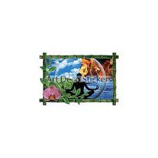 Sticker mural trompe l'oeil déco bambou Zen réf 1035