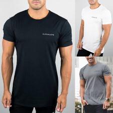 Fashion Men's Cotton Compression T Shirt Gym Bodybuilding Tops Fitness Clothes
