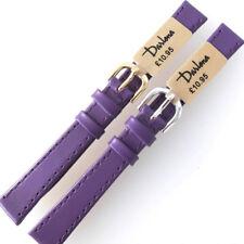 Darlena 12mm púrpura Clásico Piel de becerro reloj correa Elegir Oro O Plata