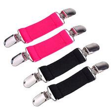 2x Elastic Stretch Dress Cinch Clip Sheet Fasteners Strap Holder Clasp Gripper