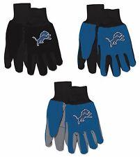 Nwt Nfl Detroit Lions No Slip Gripper Palm Utility Work Gardening Gloves New!