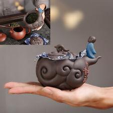 small tea caddy storage for tea leaves yixing zisha seal tea canister monk mini
