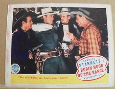 ROBIN HOOD OF THE RANGE~11X14~VINTAGE LOBBY CARD~ORIGINAL~1943~CHARLES STARRETT