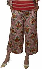 SAVE THE QUEEN pantalon Femmes, Femmes Décontractée sommerhose, coupe droite, M L XL.