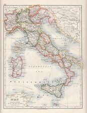 1921 MAP ~ ITALIA SARDEGNA SICILIA TOSCANA LOMBARDY VENEZIA PIEDMONT
