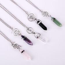Women star lotus flower Fairy Bullet Pendant Chain Necklace