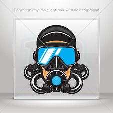Sticker Decals Diver Scuba Atv Bike Garage bike polymeric vinyl st5 ZZ8X8