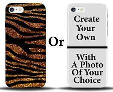 Golden Vintage Zebra Print Phone Case Cover D164