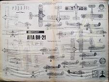 AVIA BH-21 WARPAINT 1-72 Scale Plan Drawings Aviation News 16 - 29 July 1982