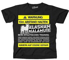 T-shirt avviso distanza Alaskan Malamute Training Lustiger frase siviwonder