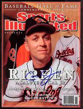 Cal Ripken Orioles SIGNED HOF Sports Illustrated NL COA