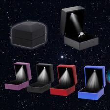 Elegant Ring Box Pendant LED lighted Engagement Wedding Gift Jewelry Storage