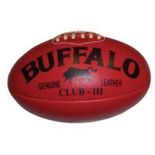 BUFFALO SPORTS TORPEDO LEATHER AFL FOOTBALL - MULTIPLE SIZES - RED/YELLOW