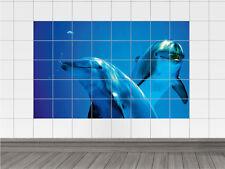Fliesenaufkleber Bad Küche Sticker Fliesenbild Delfine im Wasser Ihr