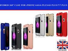 Shockproof Hybrid 360° Case Cover For Apple iPhone 6 6 Plus 7 7 Plus 8 8 Plus