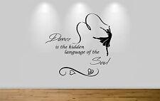 Juko Ballet Wall Sticker Quote Dance Is The Hidden Language Decal Dance Wall Art