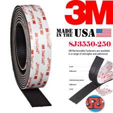 "3M SJ3550 1""Inch Width Dual Lock Tape VHB Black Reclosable Fastener Multi Length"