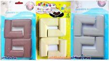 4pc EVA Foam Baby Toddler Safety Soft Corner Protection Guard Cushions UK SELLER