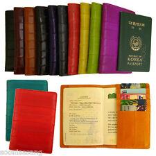 Genuine Eel Skin Leather Passport Wallet Purse