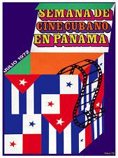 Cuban film week in Panama Decoration Poster.Graphic Art Interior design 3582