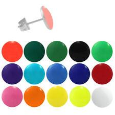1 Paar Chirurgenstahl 316L Edelstahl Ohrstecker Ohrringe Emaille versch. Farben