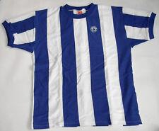 FUSSBALL RETRO KINDER TRIKOT Blau-weiß gestreift Gr. 152