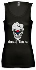South Korea Football Skull I Damen Tank Top Flagge Südkorea südkoreanische