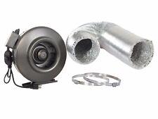 """4"""" 6"""" 8"""" 10"""" 12"""" Inline Duct Booster Blower Fan W/ Alum Ducting Combo"""